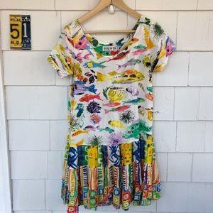 Jams World Hattie Drop Waist Fish Print Dress